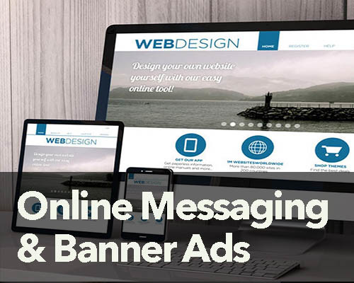 banner ads and online messaging