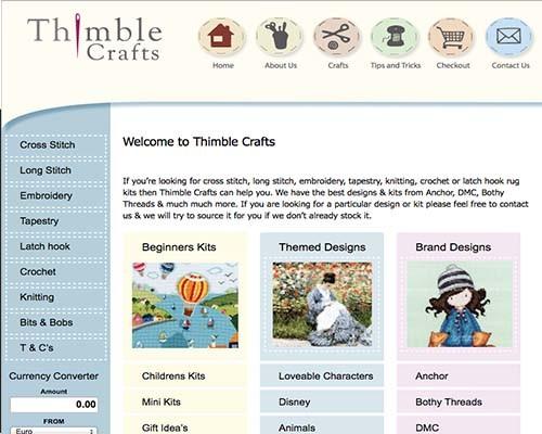 thimble crafts web graphics